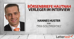 Börsenbriefe hautnah: 15 Fragen an Hannes Huster von Der Goldreport