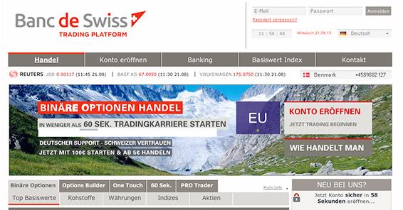 Broker im Test: Banc de Swiss