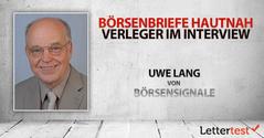 Börsenbriefe hautnah: 15 Fragen an Uwe Lang von BÖRSENSIGNALE (SWISSINVEST)