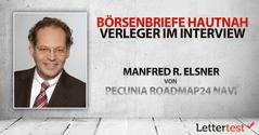 Börsenbriefe hautnah: 15 Fragen an Manfred R. Elsner von pecunia roadmap24 NAVI