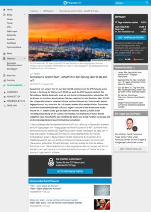 Börsenbrief COT Report