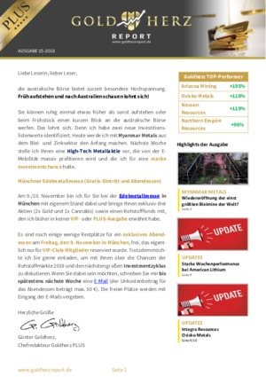 Börsenbrief Goldherz Report