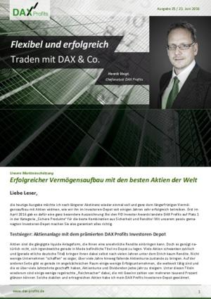 Börsenbrief Dax Profits