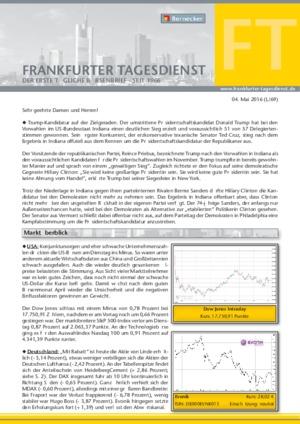 Börsenbrief Bernecker Tagesdienst