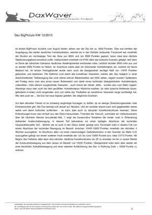 Börsenbrief DaxWaver Charttechnische Analysen