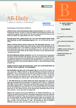 Börsenbrief Bernecker-Daily (ehemals AB-Daily)