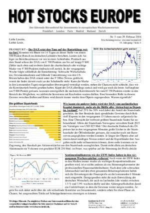 Börsenbrief HOT STOCKS EUROPE