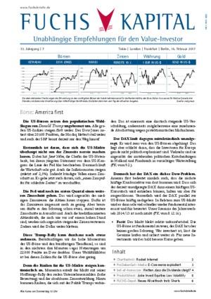 Börsenbrief FUCHS-KAPITALANLAGEN