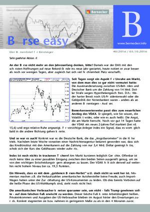 Börsenbrief Börse easy