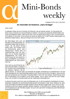 Börsenbrief Mini-Bonds weekly